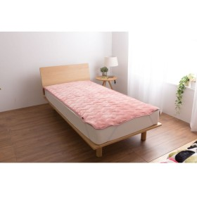 布団カバー シーツ 敷きパッド パッドシーツ うっとりなめらかパフ 敷きパッド 枕パッド mofua ピンク シングル