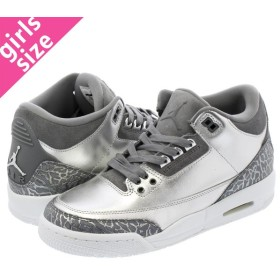 NIKE AIR JORDAN 3 RETRO PREM HC   【CHROME】 METALLIC SILVER/COOL GREY/WHITE