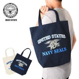 セール10%OFF!HOUSTON ヒューストン SEALs トートバッグ ミリタリー 手提げ エコバッグ ネイビーシールズ 軍物 ショッピングバッグ 6642 ブランド