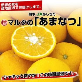 熊本 JAあしきた マルタの「あまなつ」Lサイズ5キロ(15玉前後)1,580円 甘夏 アマナツ