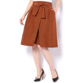un dix cors / アンディコール グログランリボン付きスカート