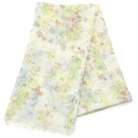 3can4on / サンカンシオン 水彩花柄プリントストール