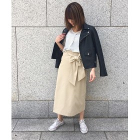 un dix cors / アンディコール ツイルリボンタイトスカート