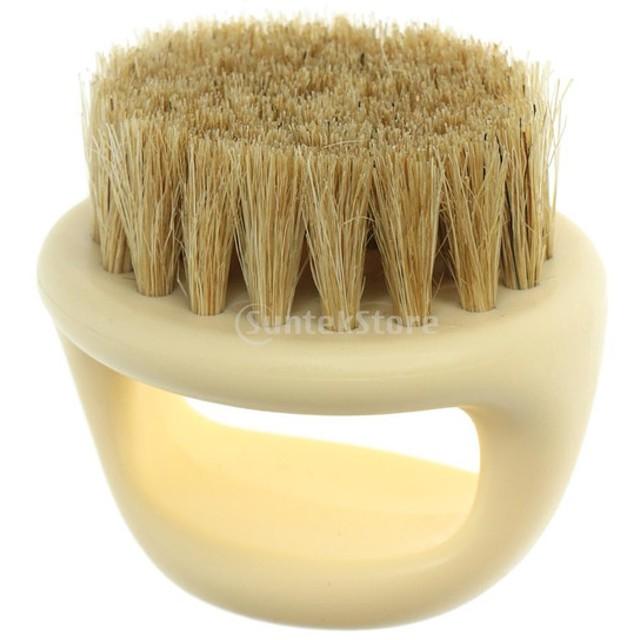 シェービング アクセサリー サロン 家庭用 シェービングブラシ 髭剃り パーフェクトシェイブ用 紳士用 全2色 - 肌
