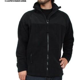 ミリタリージャケット 実物 米軍新型 ECWCS POLARTEC(ポーラテック) フリース ジャケット ブラック USED