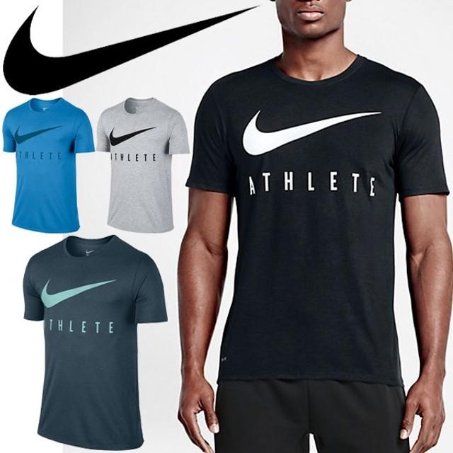1a82d8c7e34 Tシャツ 半袖 メンズ /ナイキ NIKE ドライ スウッシュロゴ プリントT クルーネック 男性 ジムトレーニング