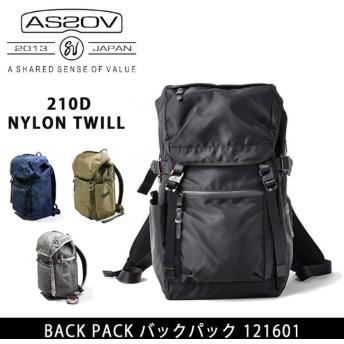 AS2OV アッソブ バックパック 210D NYLON TWILL 121601