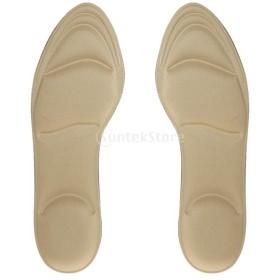 全7色 通気性 スポンジ製 マッサージ インソール 矯正 靴 クッション パッド - ヌード