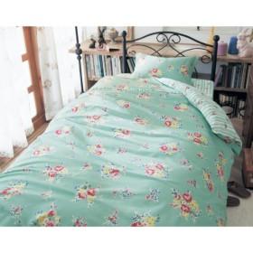 布団カバー 掛け布団カバー ベルメゾン フラワー柄の綿100%掛けふとんカバー シングル