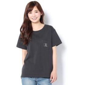 Daily russet / デイリーラシット CALIFORNIA刺繍ポケTシャツ