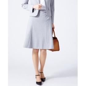 J.PRESS / ジェイプレス 【洗える】60/-リヨセル綿STポンチ フレアスカート