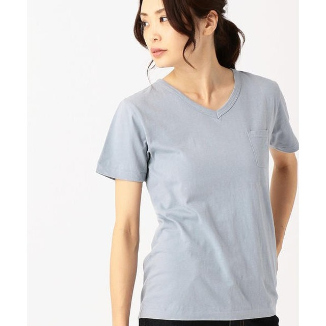COMME CA ISM / コムサイズム 〔ONIGIRI〕 ボタニカル染め Vネック半袖Tシャツ(ユニセックス)