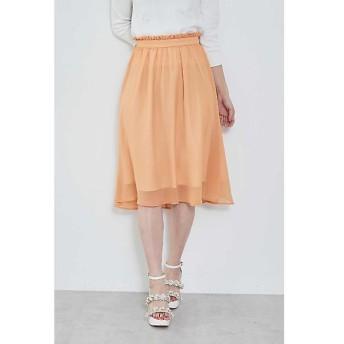 PROPORTION BODY DRESSING / プロポーションボディドレッシング  ◆リンクルシフォンギャザースカート
