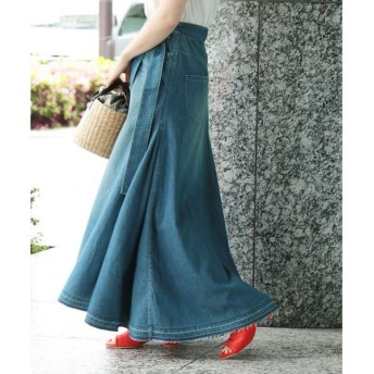 ROPE' / ロペ 【woad blue】×【ロペマドモアゼル】ベルト付マキシデニムスカート