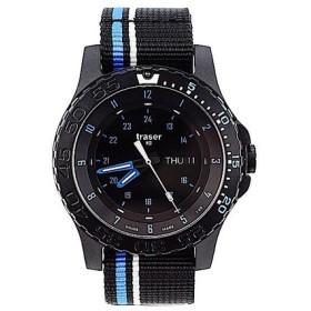 b0dbfa3e52 TRASER トレーサー メンズ腕時計 9031563 MIL-G BLUE INFINITY ブラック×ブルー ミリタリーウォッチ