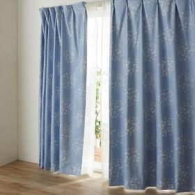 カーテン カーテン 裏面コーティングの遮光 遮熱 防音カーテン 星 ず 約100×90 2枚 約100×110 2枚