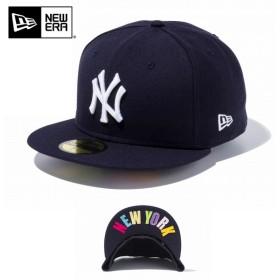 【メーカー取次】 NEW ERA ニューエラ 59FIFTY UNDERVISOR ニューヨーク・ヤンキース ネイビー×ホワイト/マルチカラー NEW YORK 11434019 キャップ ブランド