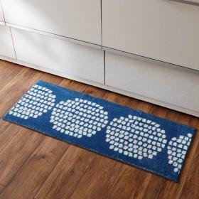 キッチンマット 洗える おしゃれ 安い 滑り止め 幅45cm 長さ120cm 抗菌防臭 抗菌 防臭 ベルメゾン ネイビー