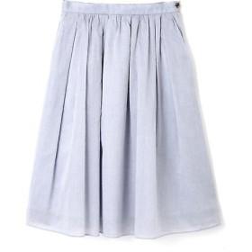 HUMAN WOMAN / ヒューマンウーマン 先染コンパクト80sローンシャンブレー タックフレアスカート