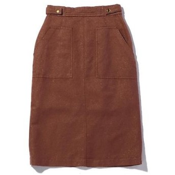 ROSE BUD / ローズ バッド 麻混ベイカー風スカート