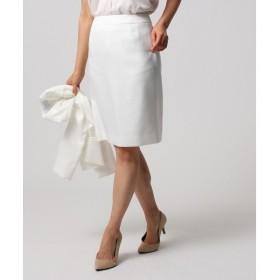 UNTITLED アンタイトル 洗える リネン混タイトスカート