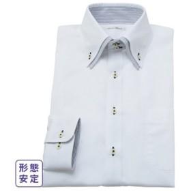 ワイシャツ ビジネス メンズ 形態安定 長袖 二重衿ドゥエボタンダウン 標準シルエット  S/M/L ニッセン