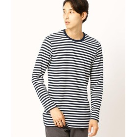 COMME CA ISM / コムサイズム ボーダーロングTシャツ