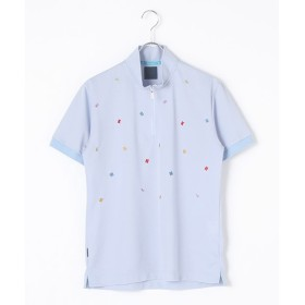 PINK HOUSE / ピンクハウス ミニミニロゴ刺繍ハーフジップアップポロシャツ