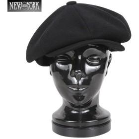 New York Hat ニューヨークハット 9035 ウール NEWSBOY ニュースボーイ キャスケット ブラック メンズ ハンチング ニュースボーイ ブランド