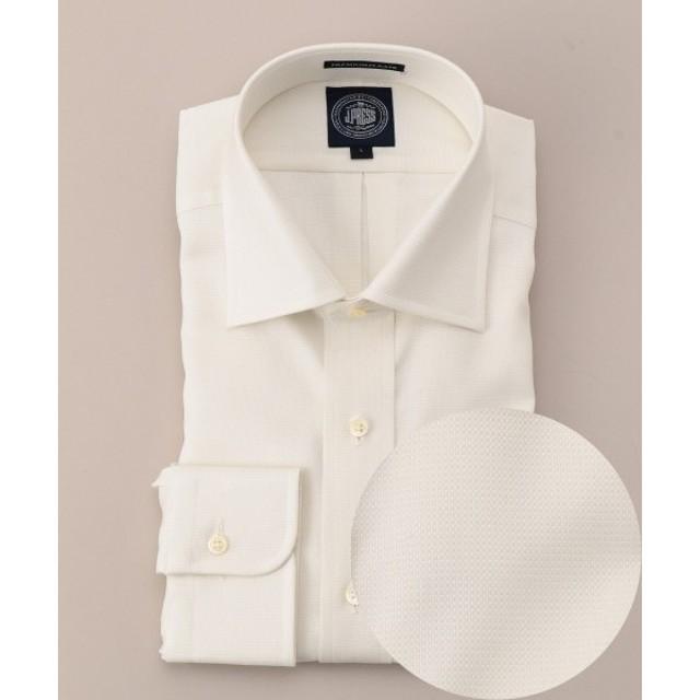 J.PRESS / ジェイプレス プレミアムプリーツ80/2ピンヘッド ワイドカラーシャツ