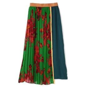 ROSE BUD / ローズ バッド フラワー柄切り替えプリーツスカート