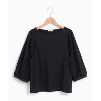 NIMES / ニーム C/モダール天竺・リボン刺繍 袖レースP/O