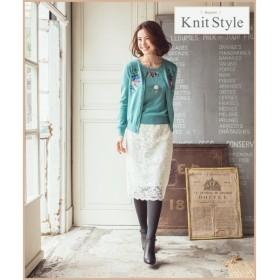 組曲 / クミキョク 【2種類のペチスカート付】Sophieレース スカート