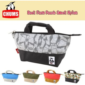 chums チャムス ポーチ Boat Form Pouch Sweat Nylon CH60-2274