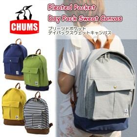 chums チャムス Pleated Pocket Day Pack Sweat Canvas ch60-2024