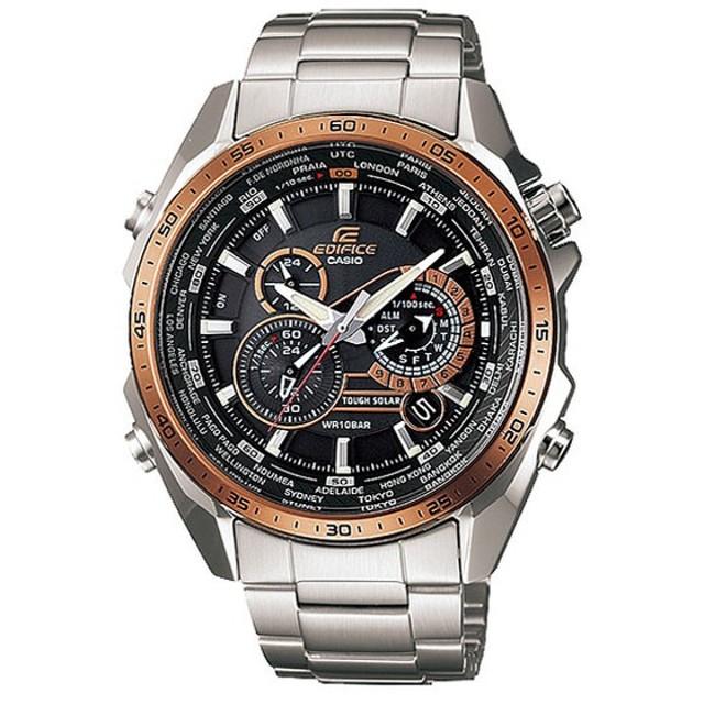 bda54fc392 CASIO(カシオ) EDIFICE エディフィス EQS-500DB-1A2 ソーラーアナログクロノグラフ シルバー. トップ 腕時計 メンズ腕時計
