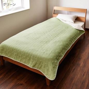 タオルケット ケット 日本製 10色のドット柄から選べる 6重織ガーゼケット カラー グリーン