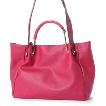 ジーラ GeeRA さっと簡単持ち替え2WAYハンドルバッグ (ピンク)