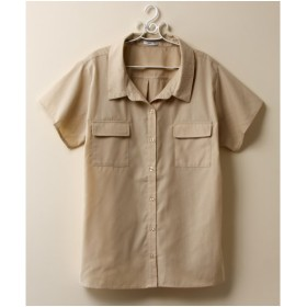 大きいサイズ レディース 抜け衿風 シャツ 薄手素材  LL/3L ニッセン