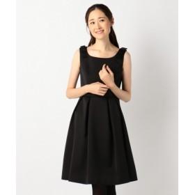 L size ONWARD(大きいサイズ) / エルサイズオンワード 【結婚式やパーティに】シルキーサテンボンディング ドレス