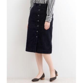 NIMES / ニーム 3ウェールコール 前ボタンスカート