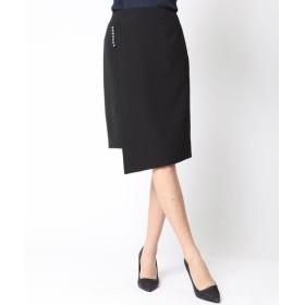 Viaggio Blu / ビアッジョブルー 【森星さん着用アイテム】パール付きラップ風スカート