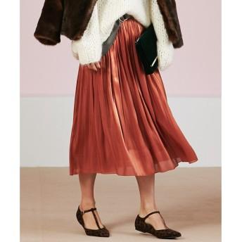 Rouge vif ルージュ·ヴィフ サテンギャザースカート