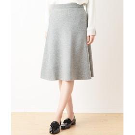 SHIPS for women / シップスウィメン リバーシブル カラー ニットフレアスカート