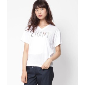 MAYSON GREY / メイソングレイ メタリックロゴプリントVネックTシャツ