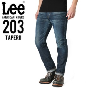 Lee リー AMERICAN RIDERS 203 テーパード デニムパンツ 濃色ブルー【LM5203-526】 ブランド