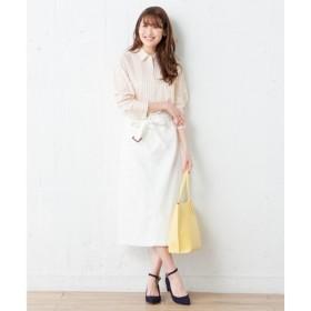 組曲 / クミキョク 【共布ベルト付】Keepindigodenim スカート