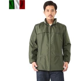 セール20%OFF!実物 新品 イタリア軍レインジャケット 後期型 レインウェア 軍服 メンズ ミリタリー アウター ブルゾン デッドストック
