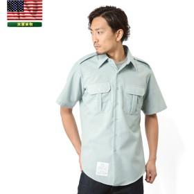 実物 新品 米陸軍 ARMY 半袖ドレスシャツ メンズ ミリタリーシャツ 軍物 軍用 軍服 放出品 デッドストック