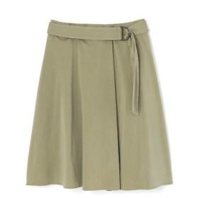 NATURAL BEAUTY / ナチュラルビューティー サテン硫化ベルト付スカート